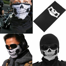 Bandana Face Shield Mask Skull Head Neck Tube Scarf for Motorcycle Bike CSS