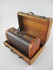 Koffer Dekokoffer Truhe 2er Set Antikoptik Leder Vintage Oldtimer 325.005