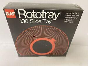 NEW GAF Rototray 100 Slide Tray Projector - Sawyer's 2 x 2 Slides/Read