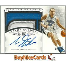 2014-15 Aaron Gordon National Treasures 4 Color RC Rookie Patch Auto #6/10