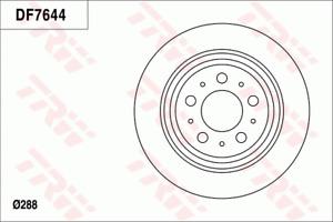 TRW Brake Rotor Pair Rear DF7644S fits Volvo S80 2.8 T6 (TS,XY)