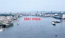 PHOTO  1982 LOOKING EASTWARD FROM TOWER BRIDGE WALKWAY LONDON 1982 THE VIEW OF T