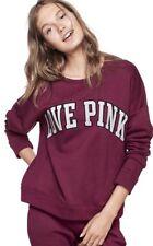 Victorias Secret PINK Boyfriend Crew Pullover Sweatshirt ~ Size Large