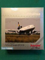 Mc Donnell Douglas DC 10-30 Lufthansa. Herpa Wings 1:500 - Art.-Nr. 526204