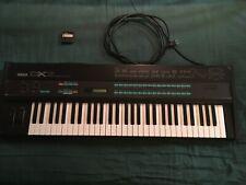 Vintage 1985 Yamaha DX7 Digital FM Synthesizer Keyboard with data cartridge