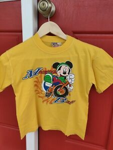 MICKEY KIDS Boys' Yellow 100% Cotton Short Sleeve T-shirt, approx.sz 8