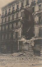 Foto AK Berlin Straßenkämpfe in Berlin Artilleriefeuer zerstörtes Haus 1928