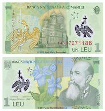 Romania 1 Leu 2014 P-117e Polymer Banknotes UNC