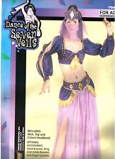 Sexy Belly Dancer Dancewear arab Harem Purple Halloween costume