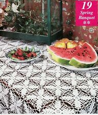 New listing Lacy Spring Banquet Tablecloth Doily/Crochet Pattern Instructions Only