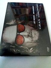 "DVD ""EL GRAN LEBOWSKI"" PRECINTADA SEALED CAJA DE METAL JEFF BRIDGES JOEL COHEN"