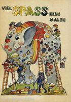 0001BUC DDR Malbuch f. Kinder Viel Spass beim Malen VEB Verlag Berlin 1970er