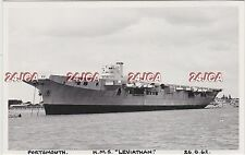 """Photograph Royal Navy. HMS """"Leviathan"""" Carrier. Not Completed! Portsmouth. 1962"""