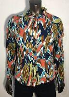City Blues By Koret Jacket Size 10 P Petite Women's Multi Color Long Sleeve