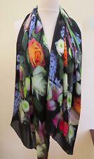 !!! nuevo!!! 100% Seda TED BAKER Kensington Floral Bufanda De Seda Largo-Impresionante!!!