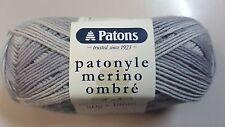 Patons Patonyle Merino Ombre 4 Ply #3332 Shadows Grey Sock Yarn 50g