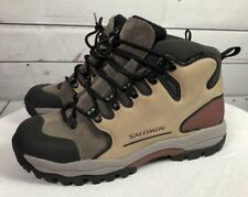 Salomon Gore Tex Contagrip Women Multi Brown Color Hiking Boot Shoe 7