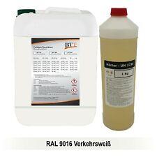 BTT-BI 2K Bodenbeschichtung farbig 1,25 kg Epoxidharz, RAL 9016, bis zu 5m²