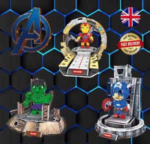 Superhero Nano Building Blocks inc 3D Puzzle INC BOX Xmas -Ideal Stocking Filler
