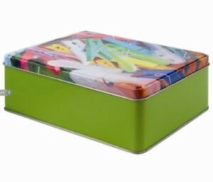 Peg Metal Storage Tin with lid 20 x 13 x 6cm Pegs not included