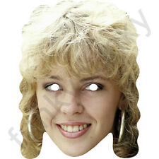 Kylie Minogue 1980's Aussie Celebrity Card Mask - All Our Masks Are Pre-Cut!