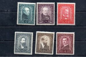 Old stamps of  Austria  1932  # 545-550  set  MLH 320.-Euro