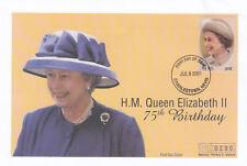 (19396) Nevis Mercury FDC Queen 75th Birthday 9 July 2001