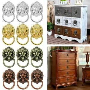 6/10Pcs Lion Head Alloy Knob Pull Handle Door Hardware Dresser Drawer Cabinet UK
