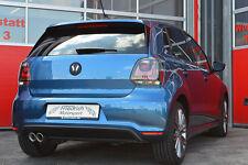 FMS acero inoxidable escape deportiva VW Polo 6r Facelift/6c Blue GT 1.4l ETI 110kw a partir del año de fabricación
