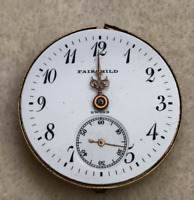 Vintage GW Fairchild & Sons Longines Pocket Watch Movement Balance 0s 15j Swiss
