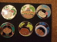 It's a Small World Hidden Mickey Series Disney Parks Pins 2009 - Set of 6  Cute