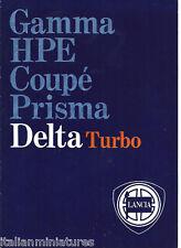 LANCIA Delta HF Turbo GT1600 1300 Reino Unido Folleto de ventas Perfecto Estado