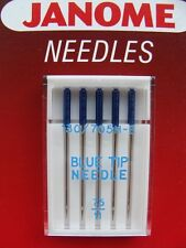JANOME Sewing Machine BLUE TIP NEEDLES-SIZE 11/75 (PACK OF 5) -990311000-Genuine