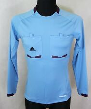 ADIDAS FOREMOTION Blue Long Sleeve Referee Football Shirt Jersey Size S Small
