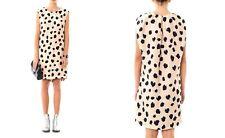New Acne Palm Lynx Print Dress  F 36  uk 8