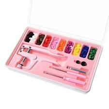 Plastic Snap Fastener Kit & PINK Hand-held Pliers & Storage Case & 100 snaps USA