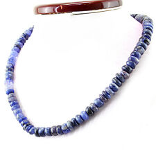 239.86 Cts Natural Rich Blue Tanzanite Untreated Round Shape Beads Necklace