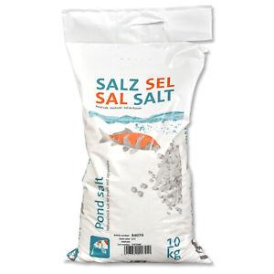 ESCO Teichsalz jodfrei Salz 10 kg Teich Koi Behandlung Parasiten Algen Aufsalzen