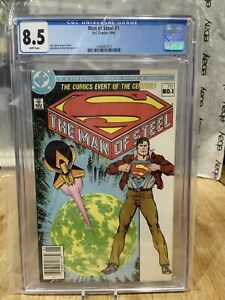 Man Of Steel #1 CGC Graded 8.5 Dc Comics 1986 White Pages