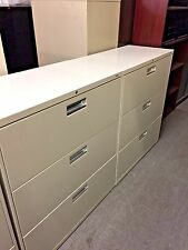 """3Dr 36""""W LATERAL SIZE FILE CABINET by HON OFFICE FURNITURE MODEL 683L w/LOCK&KEY"""