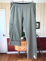 The North Face women's size L roll-up pants capri khaki zipper pockets hiking