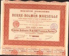 Société Foncière de BERRE-BOLMON-MARSEILLE (K)