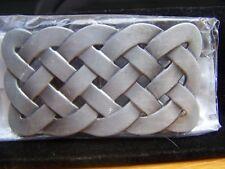 "Buckle Rage  Adult Unisex Medieval Belt Buckle Silver Metal Woven 3.25"" BLT-481"