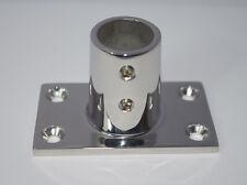 Embase ( Platine ) Rectangulaire De Luxe Pour Tube de Diamètre 22mm inox 316