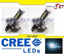 CREE LED 80W 9003 HB2 H4 WHITE 6000K TWO BULB HEAD LIGHT REPLACEMENT JDM LAMP