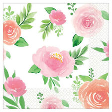 BABY SHOWER Sweet Floral SMALL NAPKINS (16) ~ Party Supplies Serviettes Girl