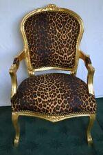 Fauteuil de style Louis XV leopard bois doré