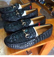 Men's Shoes Genuine Crocodile Alligator Skin Leather Handmade Black VSKG02
