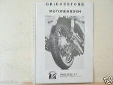 O011 BROCHURE BRIDGESTONE MOTORBANDEN MOTORCYCLE PROSPEKT,FOLDER