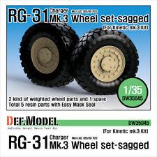 Def. modelo, RG-31 Mk.3 Conjunto de Rueda hundida (para cinética), DW35045, 1:35